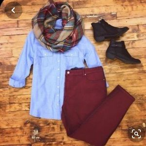Maurices Burgundy Jean-NWOT